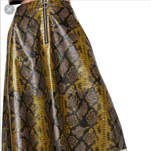 Zara snakeskin/python skirt